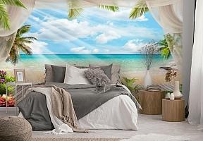 3D Фотообои «Мостик на пляже» вид 2