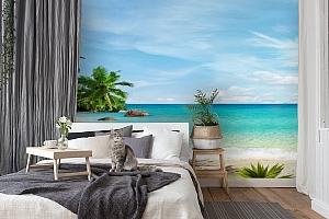 3D Фотообои «Тропический пляж» вид 7