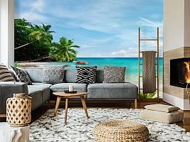 3D Фотообои «Тропический пляж» вид 5