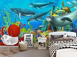 "3D Фотообои  ""Морские обитатели"" Детские вид 5"