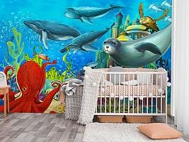 "3D Фотообои  ""Морские обитатели"" Детские вид 3"