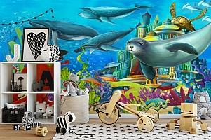 "3D Фотообои  ""Морские обитатели"" Детские вид 2"