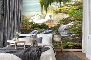 3D Фотообои «Сказочные водопады» вид 7