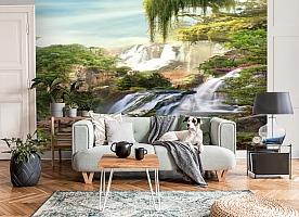 3D Фотообои «Сказочные водопады» вид 6