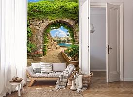 3D Фотообои «Зеленая арка в Сицилии» вид 8