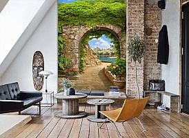 3D Фотообои «Зеленая арка в Сицилии» вид 7