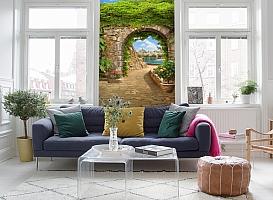 3D Фотообои «Зеленая арка в Сицилии» вид 5