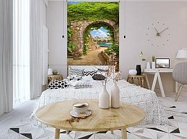 3D Фотообои «Зеленая арка в Сицилии» вид 3