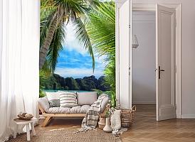 3D Фотообои «Лодочки в тропическом заливе» вид 8