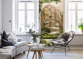 3D Фотообои «Венецианский дворик 1» вид 4