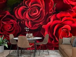 3D Фотообои «Бордовые розы» вид 2
