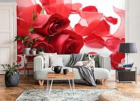 3D Фотообои «Композиция с алыми розами» вид 8
