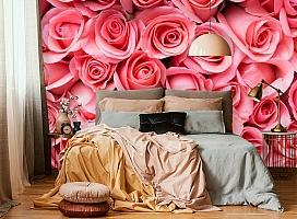 3D Фотообои «Обилие роз» вид 6