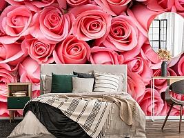 3D Фотообои «Обилие роз» вид 4