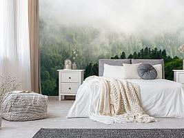 3D Фотообои «Туман над зелеными вершинами»