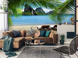 """3D Фотообои """"Солнечный пляж Таиланд""""  Природа вид 3"""
