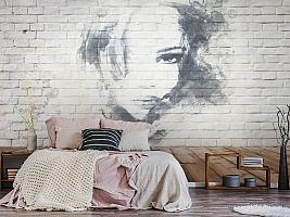 3D Фотообои «Портрет на стене» вид 6