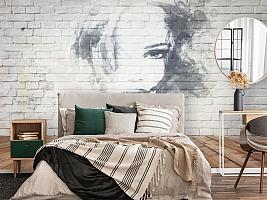 3D Фотообои «Портрет на стене» вид 4