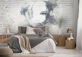 3D Фотообои «Портрет на стене» вид 2