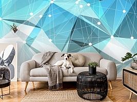 3D Фотообои «Голубая абстракция» вид 7