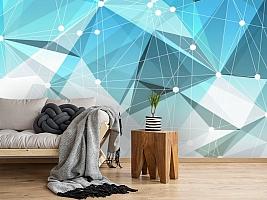 3D Фотообои «Голубая абстракция» вид 2
