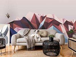 3D Фотообои «Полигональная гора» вид 7