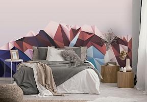 3D Фотообои «Полигональная гора» вид 4
