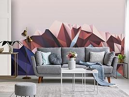 3D Фотообои «Полигональная гора» вид 3