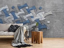 3D Фотообои «Геометрическая мозаика» вид 2