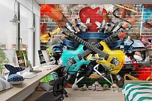 3D Фотообои «Улетный кавардак» вид 3