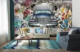 3D Фотообои «Автомобиль в подземке» вид 6