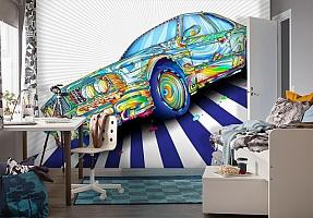 3D Фотообои «Красочный бумер» вид 4