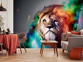 3D Фотообои «Царь зверей» вид 3