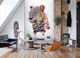 3D Фотообои «Красочный леопард» вид 7