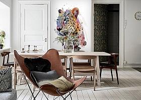 3D Фотообои «Красочный леопард» вид 6