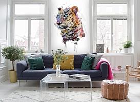 3D Фотообои «Красочный леопард» вид 5