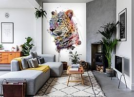 3D Фотообои «Красочный леопард» вид 2