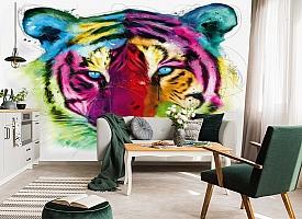 3D Фотообои «Красочный тигр» вид 5