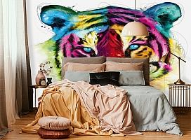 3D Фотообои «Красочный тигр» вид 4