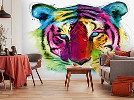 3D Фотообои «Красочный тигр» вид 3