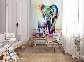 3D Фотообои «Семья слонов» вид 9