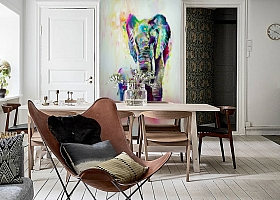 3D Фотообои «Семья слонов» вид 6