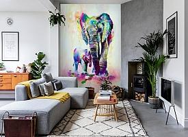 3D Фотообои «Семья слонов» вид 2