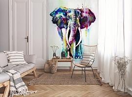 3D Фотообои «Слон акварелью» вид 9