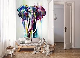 3D Фотообои «Слон акварелью» вид 8