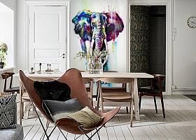 3D Фотообои «Слон акварелью» вид 6