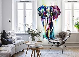 3D Фотообои «Слон акварелью» вид 4