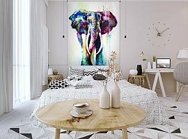 3D Фотообои «Слон акварелью» вид 3