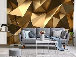3D Фотообои «Роскошные полигоны» вид 3