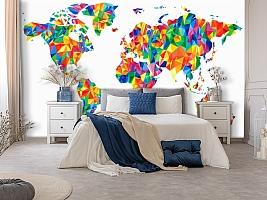 3D Фотообои «Полигональная карта мира» вид 5